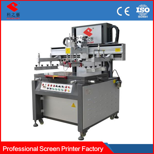 Real factory Precision 2 color 1 station screen printing machine with dryer