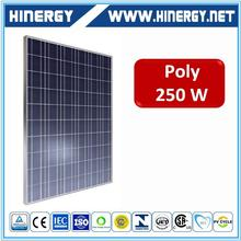 Flexible high quality 250w poly silicon solar panels 250w flat plate solar collector wholesale price