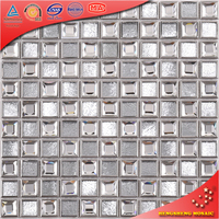 SA34 Wholesale 25X25Mm Convex Metallic Mosaic Stainless Steel Decorative Tile Borders