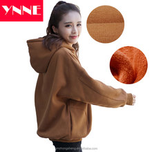 Winter dresses Hooded Sweatshirt Front slash pockets Sports Casual clothes women ladies