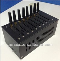 professional 8 port gsm modem support sms mms ,open at command,imei changeable
