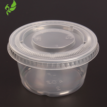 Small Clear Plastic Jello Shot Souffle Portion Condiment Sauce Dip Cups with Lids disposable wholesale