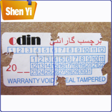 Hot-selling custom fragile anti-tamper adhesive eggshell label sticker