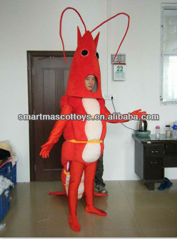 adult shrimp costume red shrimp mascot costume for adults