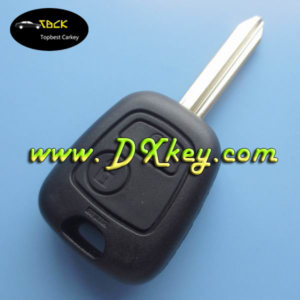 Best price 2 button car key for Citroen Picasso , citroen remote control key ID46 chip 433Mhz