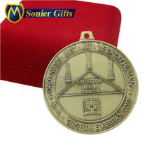 honor metal miraculous award medal with gift box