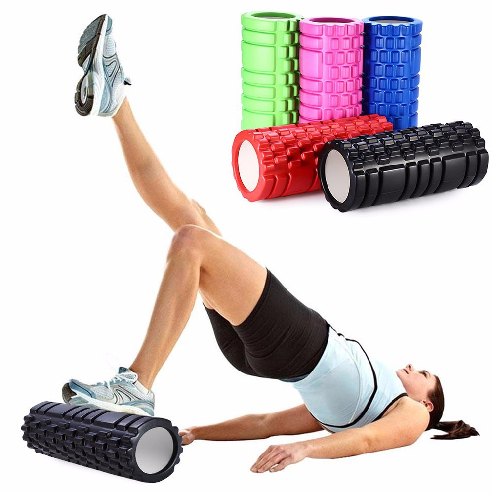 Free Shipping Sports Fitness EVA Floating Point Hollow Yoga Foam Roller for Fitness Home Gym Pilates Physiotherapy Massage