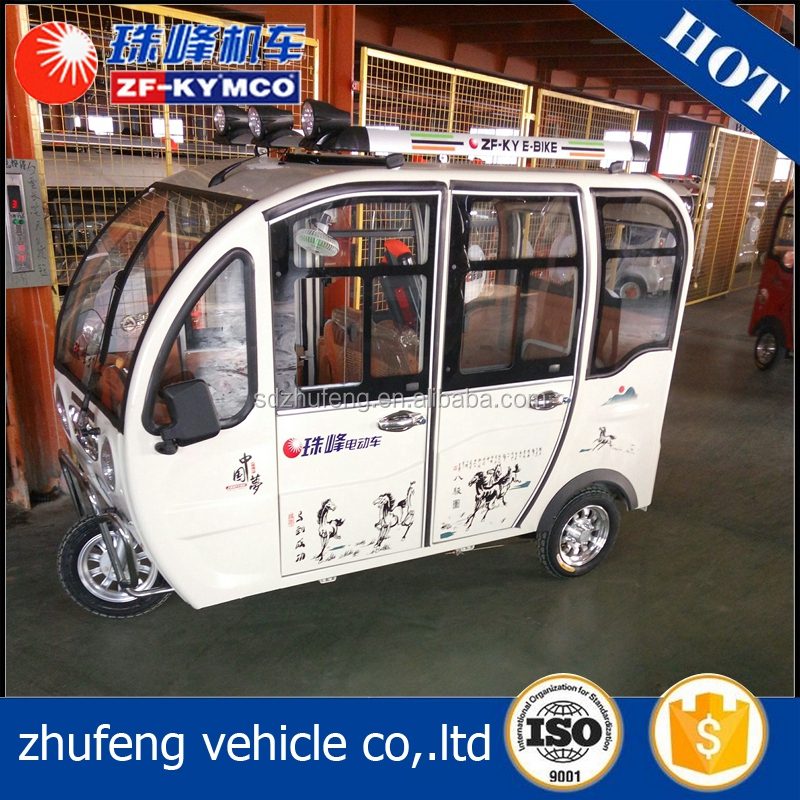High quality shaft drive cabin electic tricycle