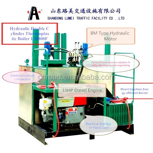 high quality thermoplastic road line marking paint machine in stock