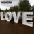 white big giant love heart led bulb marquee lamps