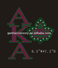 rhinestone transfer hot fix motif AKA design for clothing