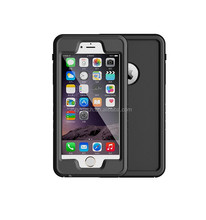 Aluminum Metal Gorilla Glass Waterproof Shockproof Mobile Phone Bags Cases Cover for Iphone 6plus 5.5