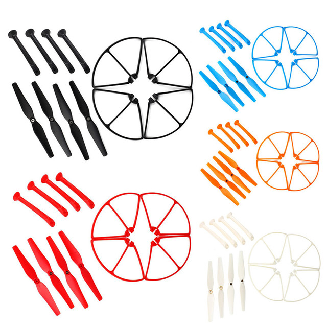Syma X8C X8W X8G X8 Spare Parts Set 4xLanding Gear + 4xBlade Propeller + 4xProtect Ring for RC Quadcopter Drone