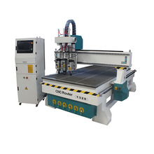 hot sale two heads pneumatic wood cnc router /wood cnc engraving machine 1325 best price