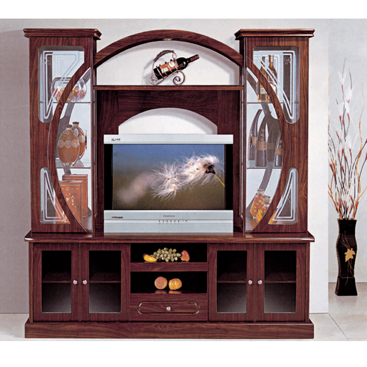 MDF wall unit with showcase 806 pictures of Tv cabinets foshan