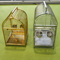 Golden Luxury Stainless Steel Parrot Carrier Cage Traveling Cage Outdoor Carrier Cage