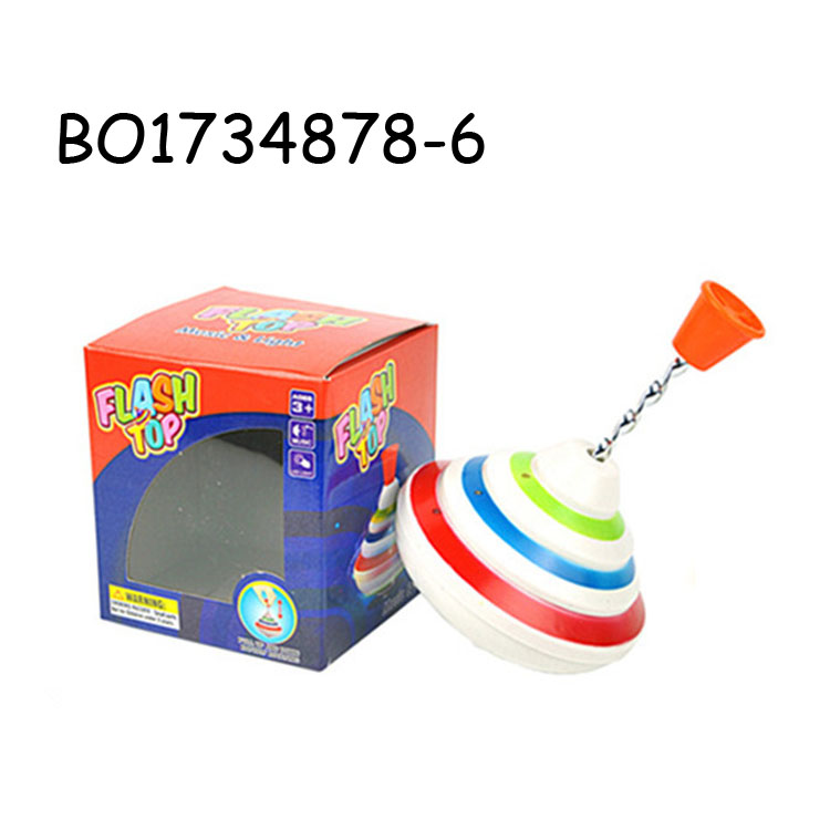 Funny plastic spinning top toy with light music BO1734878-6