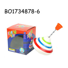Funny plastic spinning top toy with light music