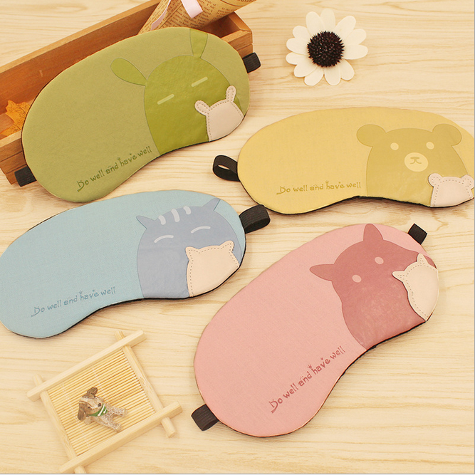 Polyester Personalized Sleep Adjustable Washable Girl Funny travel Sleeping Eye Mask