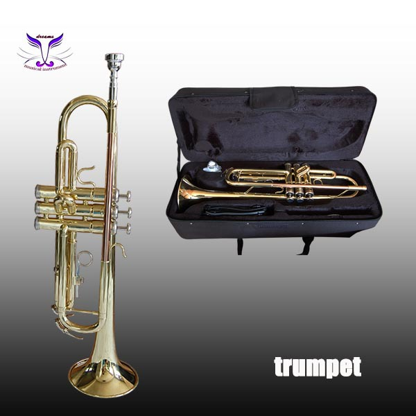 trumpets cheap price high quality alto trumpet for sale gold lacquer alto trumpet