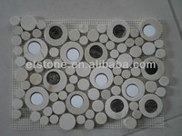 Round chipped marble mosaic Wholesale