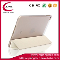 white color case smart cover for ipad mini 4 PU folding sleeve Newest pad protective