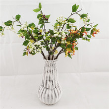 Home decor artificial fruit branches 88cm flower bouquet