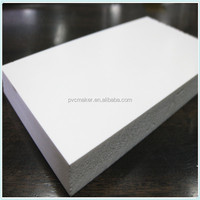 Green 2016 hot sale white color 3mm 6mm thick Density: 0,5 g/cm3 2050 x 3050mm PVC foam board
