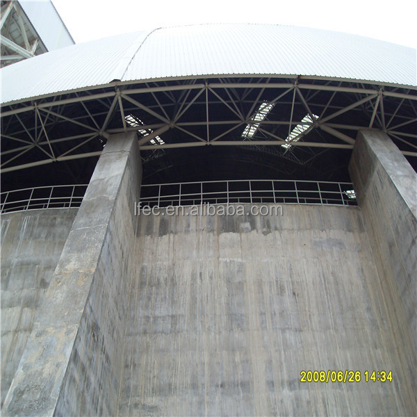 Economic anti-wind space frame ball for cement storage