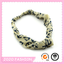 Totem Printed Muslim Turban Broad Soft Elastic Headband for Baby