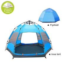 4 Person Custom Logo Double Layer Hexagon Hydraulic Waterproof Outdoor Camping <strong>Tent</strong>