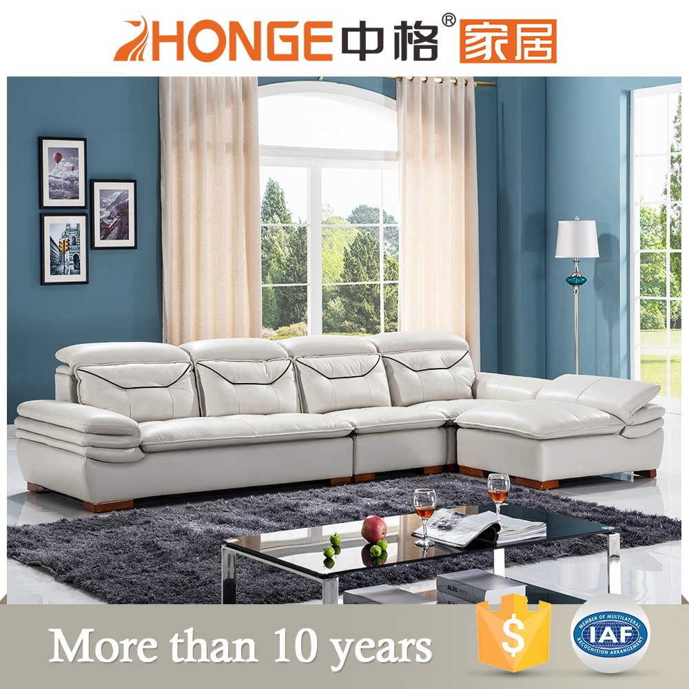 china furniture export living room genuine leather l shaped sofa