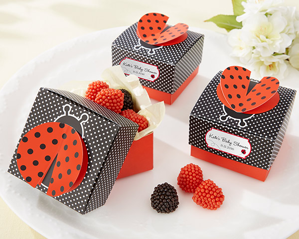 Cute as a Bug 3-D Wing Ladybug Wedding Favor Box in China