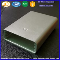 High Demand Waterproof Power Bank Empty Shell Anodized Aluminum Metal Power Bank Housing Case