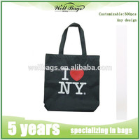 wholesale custom eco tote shopping 10oz black cotton bag