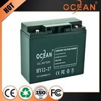 Diaphanous elegant 12V 17ah most popular storage battery