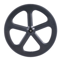 700C 5 spoke tubular carbon five spoke wheel road 65mm