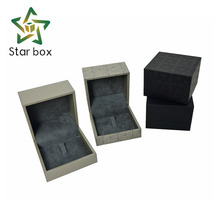New arrival leatherette paper Ring box making supplies, ring box pakistan