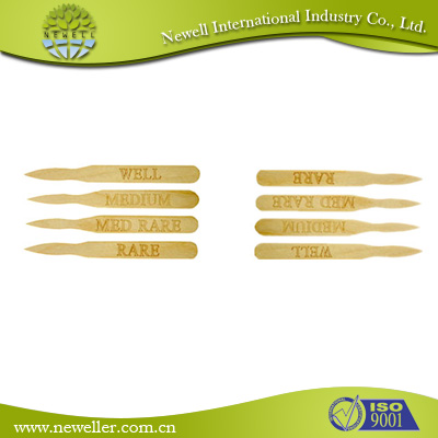 2014wholesale food grade bamboo steak marker picks/skewer For Sushi Shop
