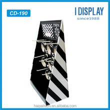 Hot selling custom cardboard 6 peg hook counter display pop counter display cosmetic point of sale display