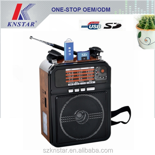 Rechargeable portable radio with mp3 player for home or ourtdoor