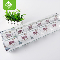 clear plastic laminated colorful aluminium foil in roll