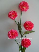red artificial fabric carnation flower