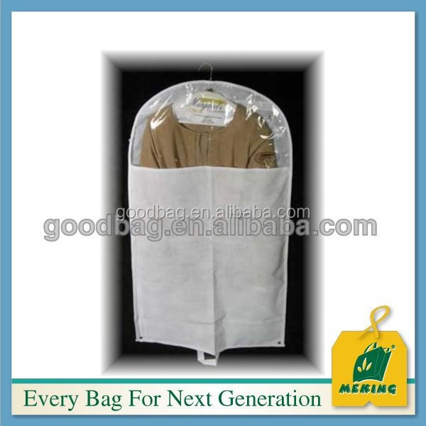 MJ-KS08 Customized suit garment bag wholesale,plastic suit cover,Transparent suit bag