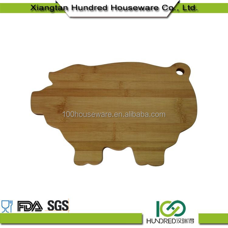 Eco-Friendly Welcome Wholesales pig shaped chopping board