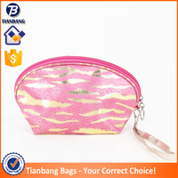Fashion Comestice Purse Kit Zebra Print Cosmetic Bag Promotional Cute Shell Makeup Bag