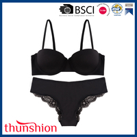 Ladies Sexy Micro Bra Panty Sets with Lace