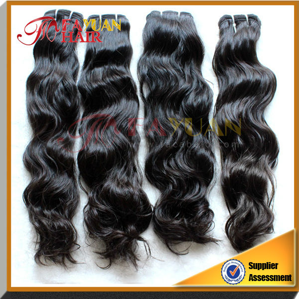 hot sales factory wholesale unprocessed temple wavy virgin indian human hair weave