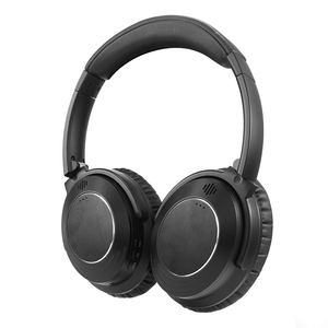 Foldable Over Ear Stereo Wireless Headset Bluetooth Headphones ANC01 Soft Memory-Protein Earmuffs Built-in Mic and Wired Mode