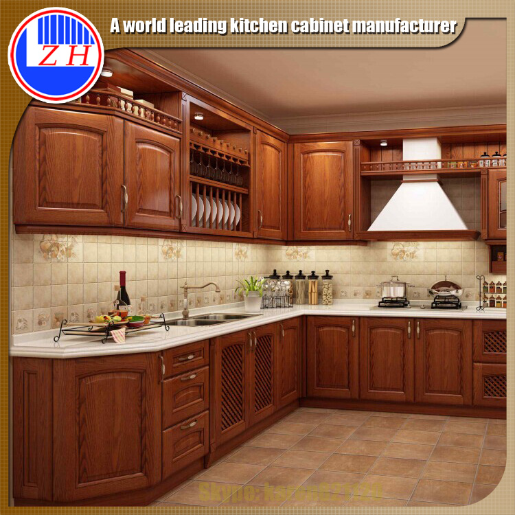 Ready Made Wall Mounted Solid Wooden Kitchen Cupboard ...
